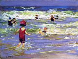 Edward Henry Potthast Little Sea Bather painting