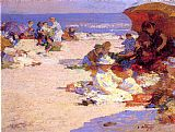 Edward Henry Potthast Picknickers on the Beach painting