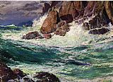 Edward Henry Potthast Stormy Seas painting