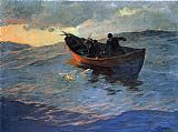 Edward Henry Potthast Struggle for the Catch painting