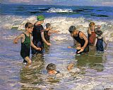 Edward Henry Potthast The Bathers painting