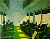 edward hopper Paintings - Chair Car