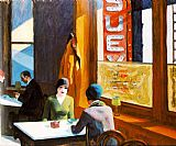 edward hopper Paintings - Chop Suey