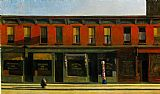 edward hopper Paintings - Early Sunday Morning