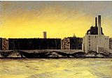 edward hopper Paintings - East River