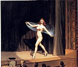 edward hopper Paintings - Girlie Show
