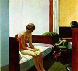 edward hopper Paintings - Hotel Room