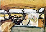 Edward Hopper Jo in Wyoming painting