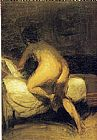 Edward Hopper Nude Crawling Into Bed painting
