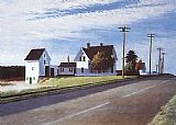 Edward Hopper Route 6 Eastham painting