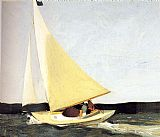 edward hopper Paintings - Sailing
