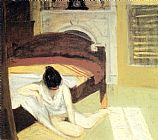edward hopper Paintings - Summer Interior