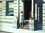 edward hopper Paintings - Summertime