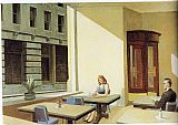 edward hopper Paintings - Sunlight in a Cafeteria