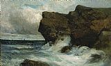 Edward Mitchell Bannister Ocean Cliffs painting