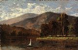 Edward Mitchell Bannister sailboat in river painting