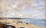 Eugene Boudin Beach at Trouville painting