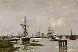 Eugene Boudin Le Port, Anvers painting