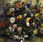 Eugene Delacroix Bouquet of Flowers painting