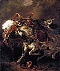 Eugene Delacroix Combat of the Giaour and the Pasha painting