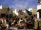 Eugene Delacroix The Fanatics of Tangier painting