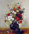 Eugene Henri Cauchois Daisies, Poppies and Cornflowers painting