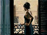 Fabian Perez At the Balcony in Buenos Aires painting