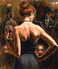 Fabian Perez Girl with Red Hair painting
