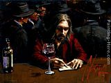 Fabian Perez Man at the Bar II painting