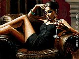 Fabian Perez Red on Red III painting
