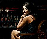 Fabian Perez Saba at the Bar II painting