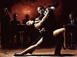 Dancer paintings - Tango IV by Fabian Perez