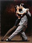 Fabian Perez Tango in Paris painting