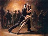 Dancer paintings - Tango by Fabian Perez