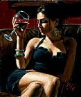 Wine paintings - Tess IV by Fabian Perez