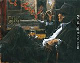 Fabian Perez WHISKEY AT LAS BRUJAS II painting