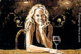 Fabian Perez first blonde painting