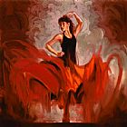 Dancer paintings - Crescendo I by Flamenco Dancer