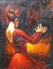 Flamenco Dancer Flamenco dancer tablado painting