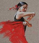 Flamenco Dancer Flamenco in Red painting