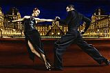 Tango paintings - Last Tango in Paris by Flamenco Dancer