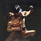 Flamenco Dancer Provocation by Hamish Blakely painting