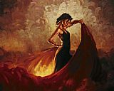 Flamenco Dancer Sevilla painting