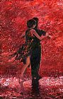 Tango paintings - Tango Romance by Flamenco Dancer