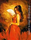 Flamenco Dancer lady of spain painting
