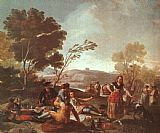 Francisco de Goya Picnic on the Banks of the Manzanares painting