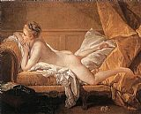 Francois Boucher Girl Reclining painting