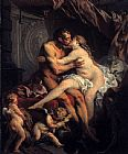 Francois Boucher Hercules and Omphale painting