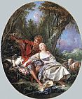 Francois Boucher Shepherd and Shepherdess Reposing painting