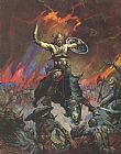 Frank Frazetta Conan the Conqueror painting